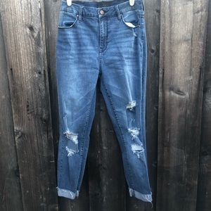 Kendall + Kylie The push up distressed ankle jeans